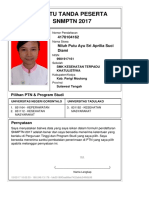 Kartu Pendaftaran SNMPTN 2017 4170104162