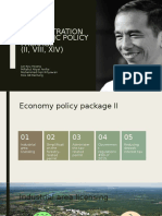 Jokowi's Administration Economic Policy Package