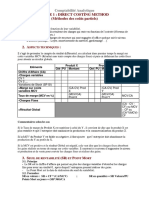 CA - Fiche Direct Costing Method
