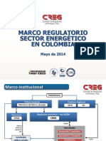 Marco Regulatorio Sector Energia 2014 Colombia