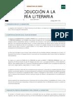 Introducción a La Teoría Literaria (Plan de Estudios)