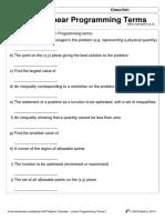 D1 Linear Programming Terms