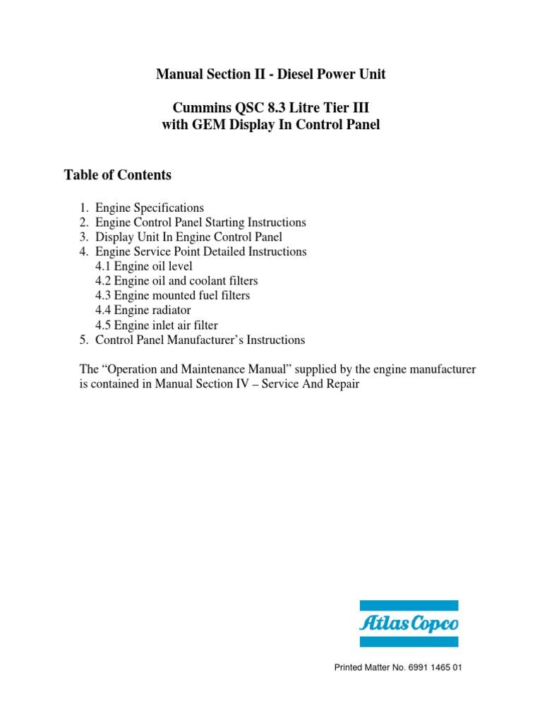 Diesel QSC8.3 GEM Display | Diesel Engine | Icon (Computing)