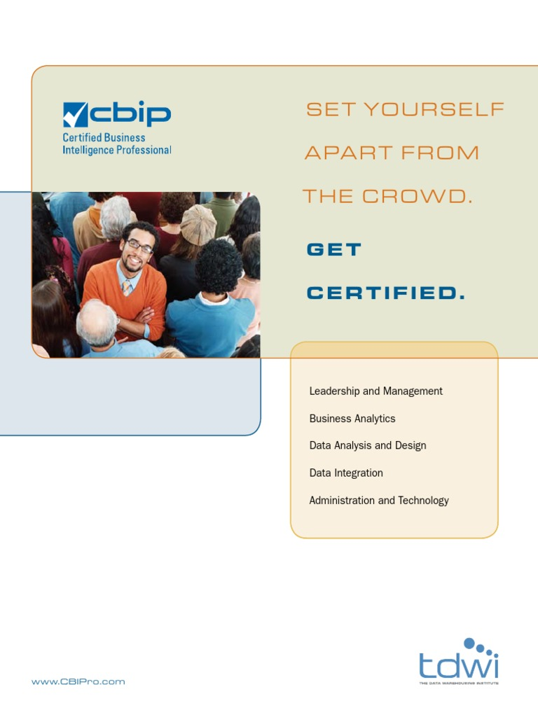 Cbip Brochure Professional Certification Business Intelligence