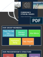 Formosa's Ethical Issues