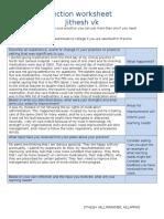 self-reflection template for portfolio