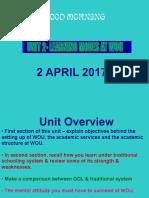 Wuc Tutorial 2, April 2017 UNIT 2