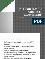 Strategic Management Project for Tourism 2564