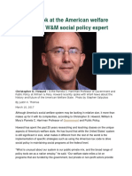 A Closer Look at the American Welfare State With a W&M Social Policy Expert
