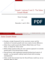 Lectures 2 and 3 - The Solow Growth Model
