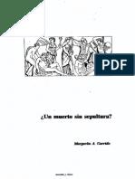 Un Muerto Sin Sepultura (Margarita a. Garrido)