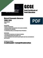 GCGE (Geek Certificate of Geek Education)