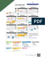 Calendario Escolar 2016 2017 Vertical