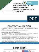 Norma Técnica Para La Detección Temprana de Las Alteraciones Del Desarrollo Del Joven de 10 a 29 Años