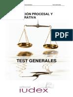 Test Generales Tramitacion Procesal