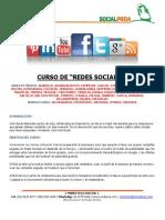 Temario Curso Taller Redes Sociales Para Empresas