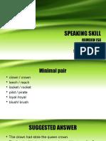 Speaking Skill