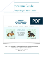 curriculum guide digital storytelling etec 510