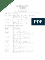 resume 2017 teacher pdf