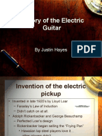 History of Electric Guitar by Justin Hayes