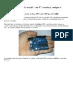 Conectar Arduino UNO a Un PC Con W7