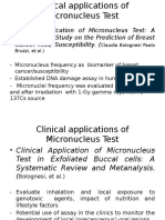 Clin Application of Micronucleus Test