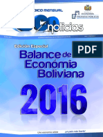 Bolivia Balance Economia MEFf 2016