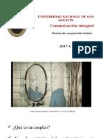 1 Comunicación Integral Biologia UNSA 2017-1