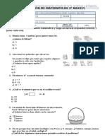 Evaluación de Matematicas 2 Basico