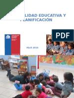 Integralidad Educativa y Planificación