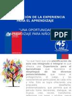 Planificación de La Experiencia Para El Aprendizaje (f)