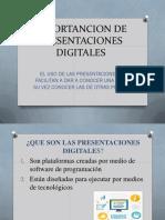 Importancion de Presentaciones Digitales