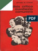 Alfredo E. Roland - Analisis Critico Del Manifiesto Comunista