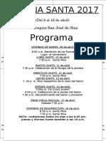 Programa de Semana Santa Imprimir