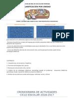 Planificación de la maestra_UNIDAD I