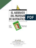 Resumen Libro Asesinato Profesor Matematicas
