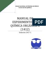 Manual Q. Orgánica II (1412) 2017-1