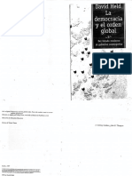David Held la democracia y el orden global