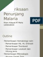 Pemeriksaan Penunjang Malaria
