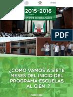 INIFED Eficiencias Informe de Resultados 2015-2016