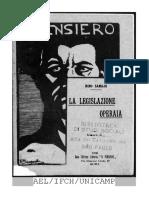 Nino Samaja - La Legislazione Operaia