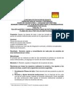 TALLER No. 10  AJUSTES Y CONSOLIDACIÓN PLANES DE ESTUDIO INSTITUCIONALES