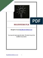 Beginners MRR