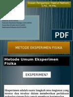 Metode Eksperimen Fisika ppt