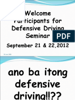 Aspects of Defensive Driving