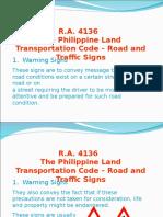 Road Signs RA 4136