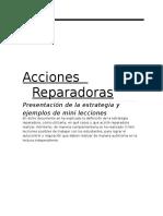 ACCIONES REPARADORAS