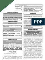 Decreto Supremo Que Declara El Estado de Emergencia Por Desa Decreto Supremo n 007 2017 Pcm 1479610 1