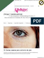 10 Cremas Caseras Para Contorno de Ojos _ Revista Online de Belleza , Cabello, Cuerpo , Piel y Salud