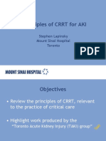 Principles of Continuous Renal Replacement Therapy for Aki